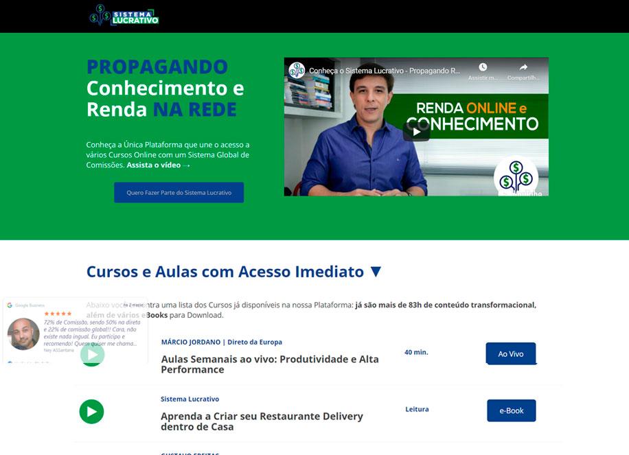 Sistema Lucrativo - Plataforma online